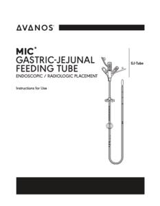 MIC* GASTRIC-JEJUNAL FEEDING TUBE