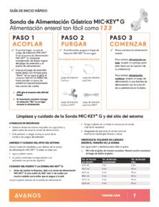G Feeding Tube: Quick Start (ESPANOL)