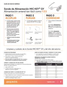 GJ Feeding Tube: Quick Start (ESPANOL)